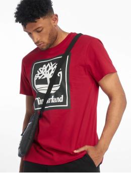 Timberland T-Shirty YCC Stack Logo ECL czerwony