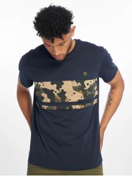 Timberland T-Shirty Print Block niebieski
