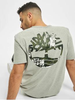 Timberland Tričká SS Back Logo Camo šedá