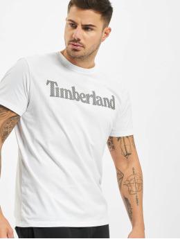 Timberland Tričká Ss Elevated Linear biela