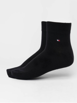 Tommy Hilfiger Dobotex Ponožky Quarter 2-Pack čern
