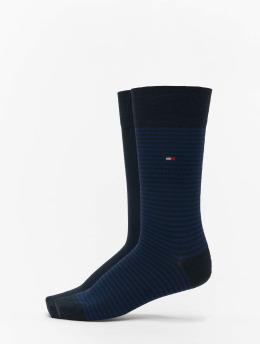 Tommy Hilfiger Dobotex Socken 2 Pack Small Stripe blau