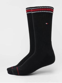 Tommy Hilfiger Dobotex Sukat Iconic Sports 2-Pack musta
