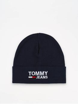 Tommy Jeans Beanie Logo  blau