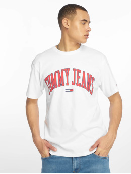 Tommy Jeans Camiseta Collegiate Logo blanco