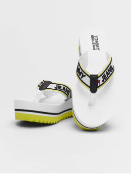 Tommy Jeans Claquettes & Sandales Pop Webbing Mid Beach blanc