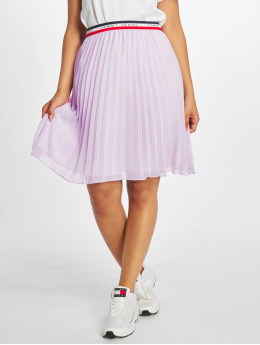 Tommy Jeans Falda Pleated  púrpura