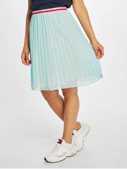 Tommy Jeans Falda Pleated  turquesa
