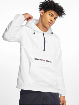 Tommy Jeans Giacca Mezza Stagione Nylon Shell Solid Popover bianco