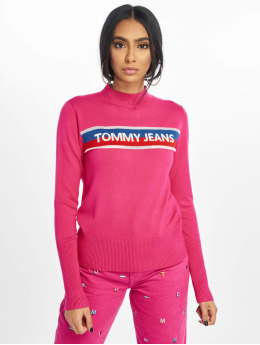 Tommy Jeans Jumper Graphic Stripe pink