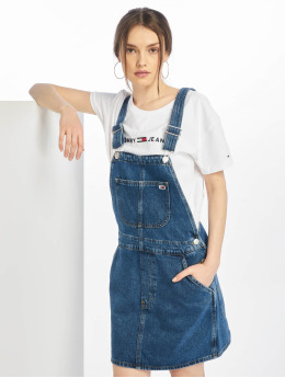 Tommy Jeans Kleid Classic Dungaree Dress blau