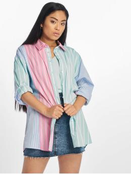 Tommy Jeans Košele Multicolor Stripe modrá