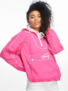 Tommy Jeans Kurtki przejściowe Contrast Piping Popover pink