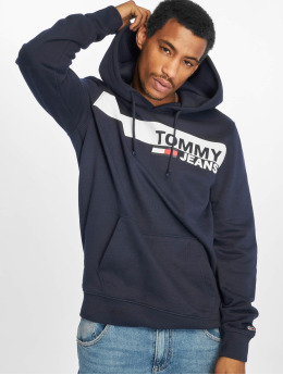 Tommy Jeans Mikiny Essential Graphic modrá