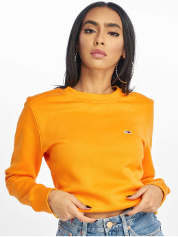 Tommy Jeans Pullover Side Seam Detail orange