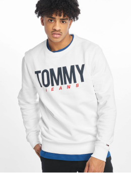 Tommy Jeans Pullover Essential Logo weiß