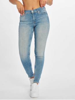 Tommy Jeans Skinny jeans Nora 7/8 Zip Mid Rise blauw