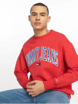 Tommy Jeans Svetry Clean Collegiate červený