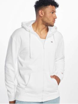 Tommy Jeans Sweat capuche zippé Classics blanc