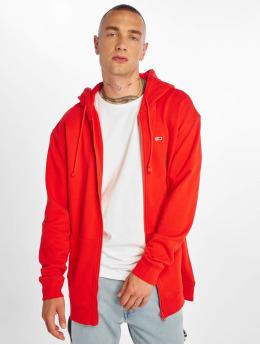 Tommy Jeans Sweat capuche zippé Classics rouge