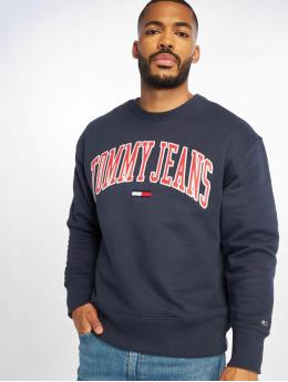 Tommy Jeans Swetry eans Clean Collegiate niebieski