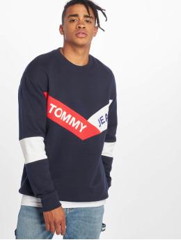 Tommy Jeans Swetry Chevron niebieski