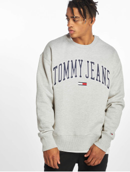 Tommy Jeans Swetry Clean Collegiate szary