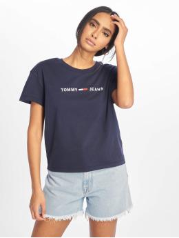 Tommy Jeans T-paidat Clean Linear Logo sininen