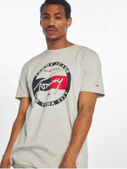 Tommy Jeans T-Shirt Circle Graphic grau