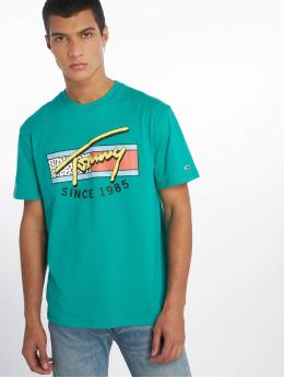 Tommy Jeans T-Shirt Neon Script grün