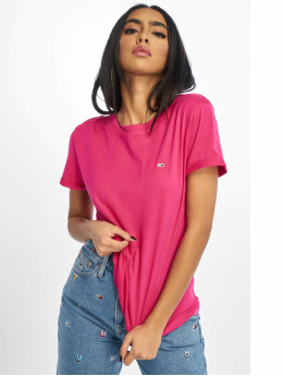 Tommy Jeans T-Shirt Relaxed Roll Up  magenta