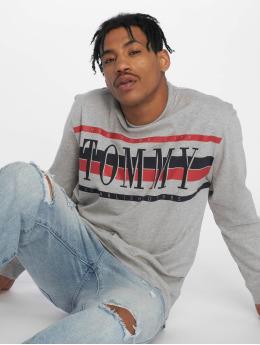 Tommy Jeans T-Shirt manches longues Retro gris