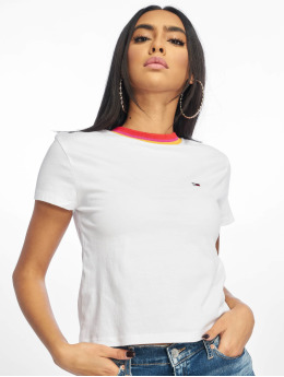 Tommy Jeans T-Shirty Solid Baby  bialy