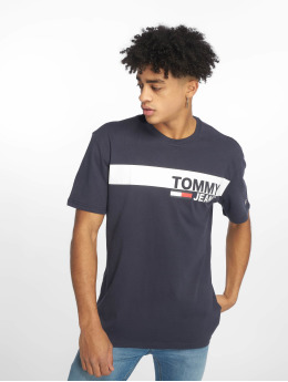 Tommy Jeans T-Shirty Essential Box Logo niebieski