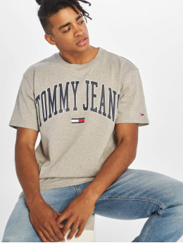 Tommy Jeans T-Shirty Collegiate Logo szary