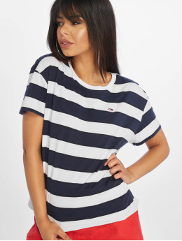 Tommy Jeans T-skjorter Stripe Cropped Boxy blå