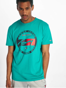 Tommy Jeans T-skjorter Circle Graphic grøn