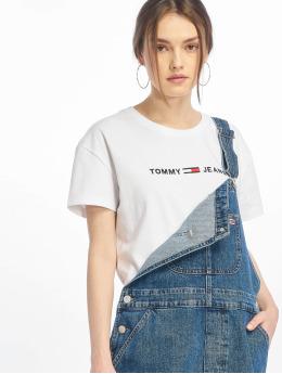 Tommy Jeans T-skjorter Clean Linear Logo hvit