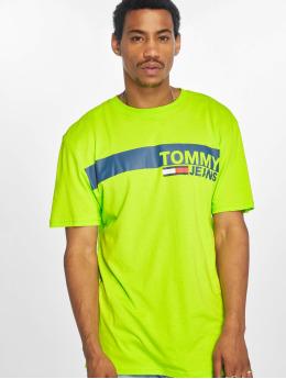 Tommy Jeans Trika Essential  zelený