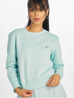 Tommy Jeans trui Side Seam Detail turquois