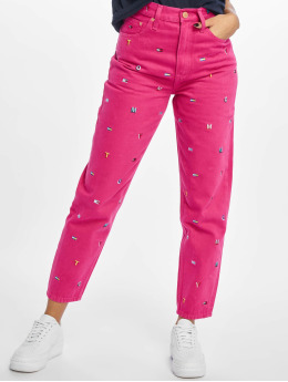 Tommy Jeans Vaqueros de madre High Rise Tapered TJ 2004 fucsia