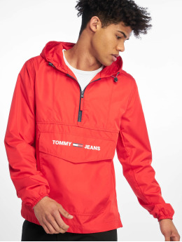 Tommy Jeans Zomerjas Nylon Shell Solid Popover rood