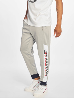 Tommy Sport Jogginghose With Leg Logo  grau