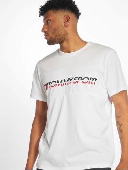 Tommy Sport T-Shirt Tommy Hilfiger Logo Driver T-Shirt weiß