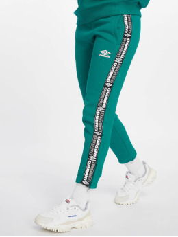 Umbro Spodnie do joggingu Tape Side Crop zielony