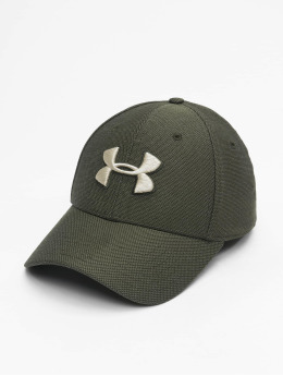 Under Armour Casquette Flex Fitted Heathered Blitzing 3.0 vert
