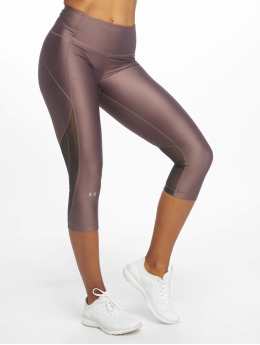 Under Armour Leggings deportivos UA HG Armour Capri Branded púrpura