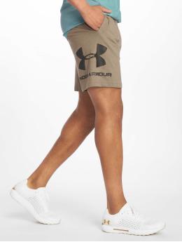Under Armour Short de sport Sportstyle Cotton Graphic brun