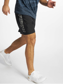 Under Armour shorts Woven Graphic Wordmark zwart