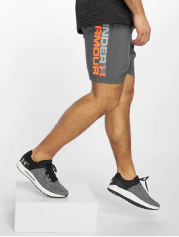 Under Armour Sport Shorts Woven Graphic Wordmark szary